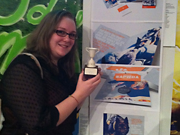 <br/>Junior, Nikki Johnson, winner of a Student Design Excellence Award